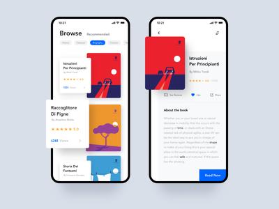 Design 5 modern app. UI prototype