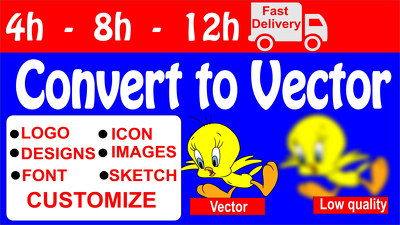 Convert your Image,Logo to Vector