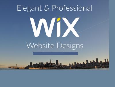 Design Wix Website for you