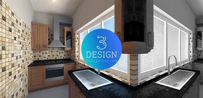 Do Interior Rendering of Kitchen