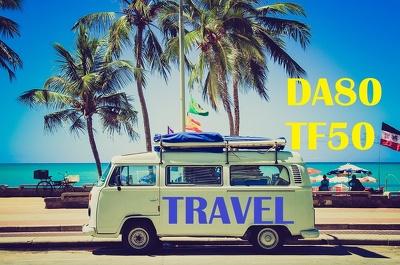 Guest Post on Travel Website DA80 TF50 dofollow blog