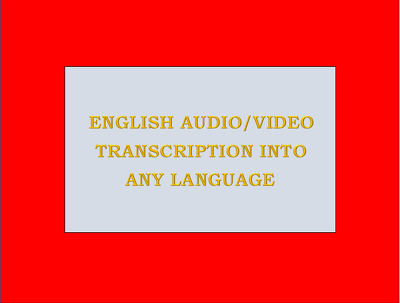 Transcribe 15 minutes English audio/video in any language