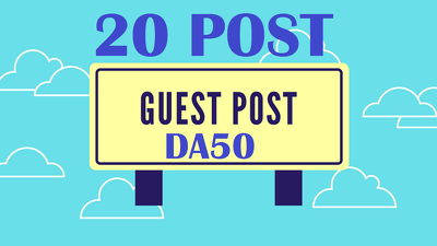 Guest Post 20 dofollow Real - DA50+ blog including .EDU site
