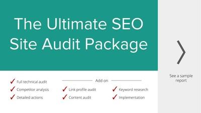 Full site technical audit & SEO Strategy: 120+ checks