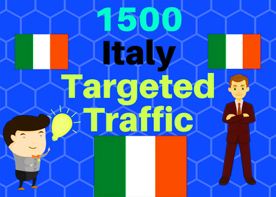 I Will Get 1500 Italy Targeted Web Traffic Get Adsense Safe Good