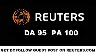 Publish a Guest Post PR on Reuters - Reuters.com DA 95