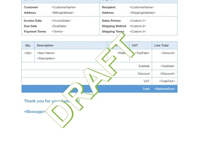 Design quickbooks online custom invoice template