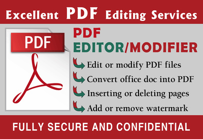 Be Your Most Reliable PDF Editor And Converter upto 30 pages