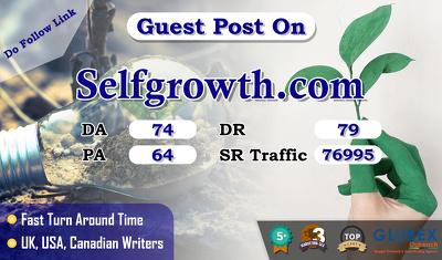 provide you Guest Post on Selfgrowth.com with Do Follow link.