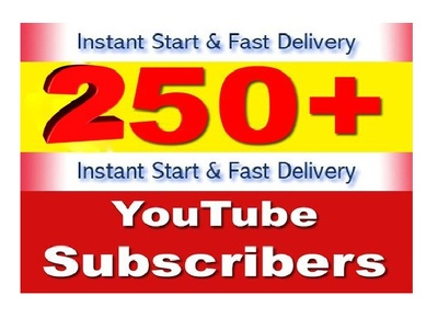 250 HQ Non drop YouTube Subscribers & Lifetime Guarantee