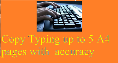 Copy type up to 5 A4 pages