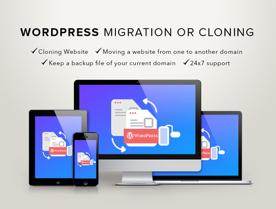WordPress  #1 Top website Transfer, migrate or change domain