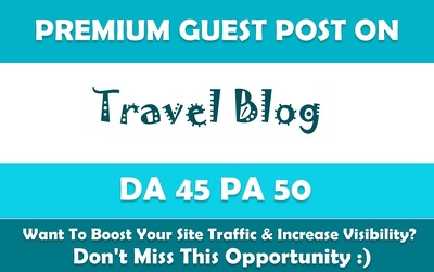 Publish Permanant Guest Post on Travel Website Tripoto. com