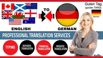 Translate English to German and German to English (1000 Words)
