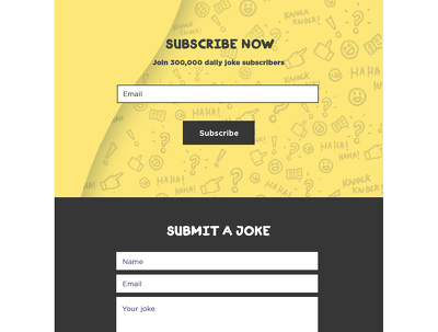 Design a website landing page or email template