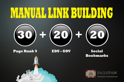 Build 30+ PR9-PR8 + 20 EDU/GOV + 20 Social Bookmarking
