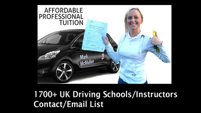 Give you 1700 UK Driving Schools/instructors contact/email list
