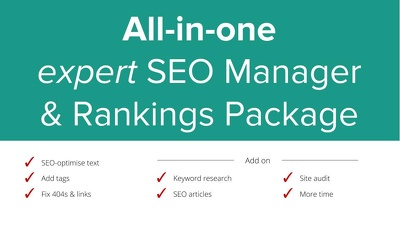 Be your expert SEO Manager: All-in-One Ranking Package