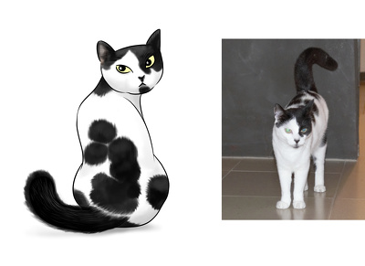 Draw your pet or any animal in a cute, cartoon or manga style