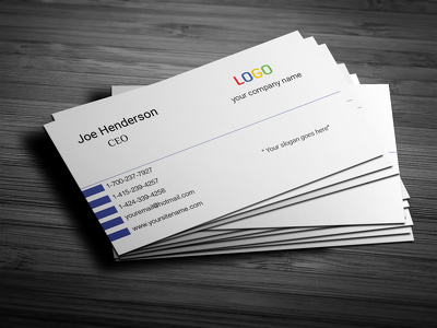 Create your Professional Business card with 5 realistics mockups