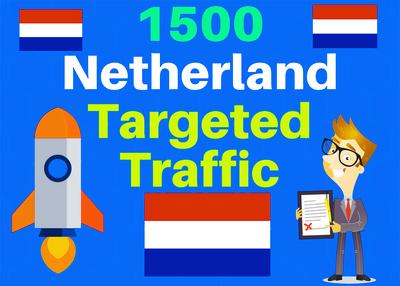 I Will Send 1500 Netherlands Web Targeted Traffic