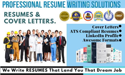 Write ,rewrite,design resume,cv ,cover letter and linkedIn