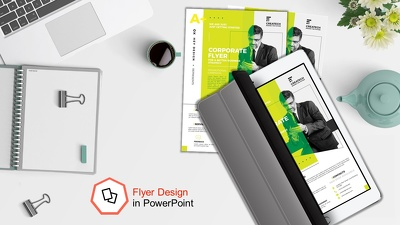 Design professional flyer in powerpoint