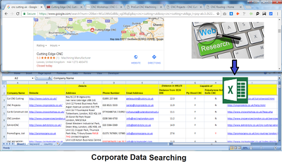 Web Research for Corporate Data