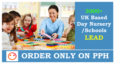 Give you 3000 UK DAY Nursery And SCHOOLS CONTACTS/EMAILS