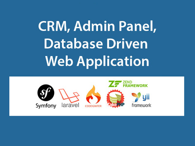 Develop CRM and admin panel application in php mysql