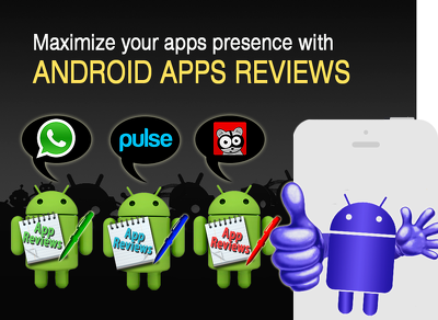 Add 25 android app review with five star ratings