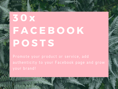 Write 30x Facebook posts