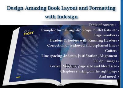 Design Book Layout, Typeset Books Interior Or Booklet
