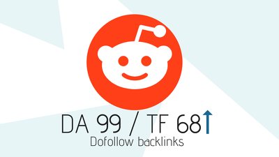 Permanent Reddit Dofollow DA99 / TF68 Backlink