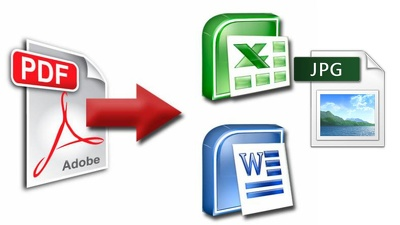 Convert PDF (up to 10 pages) to Word,Power point or Excel