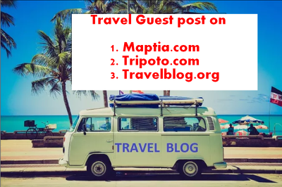 Write and publish Guest Post on 3  Travel websites