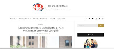 Write a guest post at Heandshefitness.com, DA 44 & Do follow