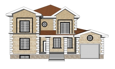 I can create a quick 3d sketch of the house according to your dr
