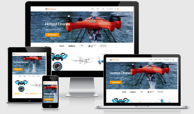 Design Turnkey Amazon Affiliate Drones Store Website Business