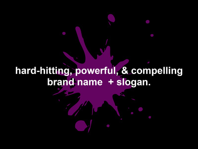 create a powerful brand name or slogan for your business