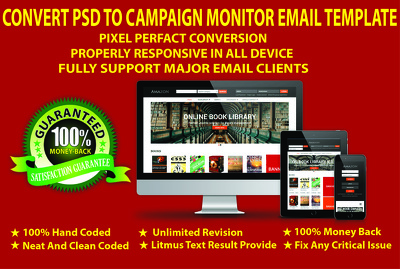 Convert your PSD to Campaign Monitor Email Template