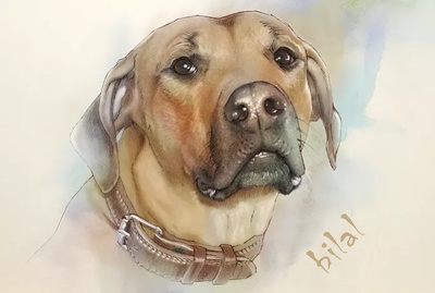 Make a painting of Your Dog in my style