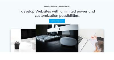 Develop your website using WordPress