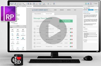Develop an interactive, responsive web or app prototype