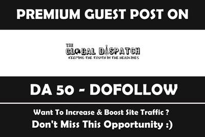 Publish Guest Post on US Newspaper Theglobaldispatch.com - DA50