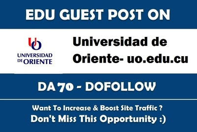 Guest post on  Universidad de Oriente DA70 Dofollow Indexable