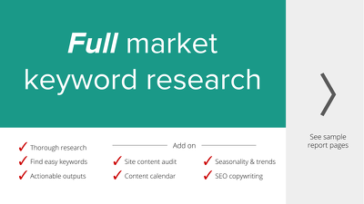 Full Google SEO Market Keyword Research