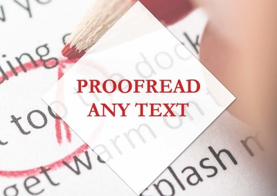 Proofread up to 1,000 words of any text