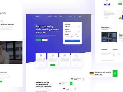 Design eye catchy website PSD ( Design only )
