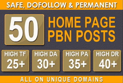 Provide 50 Pbn Posts Dofollow Backlinks to improve ranking